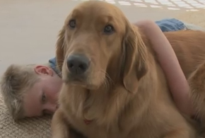 Ruby is a lifesaver for Garrett and his family